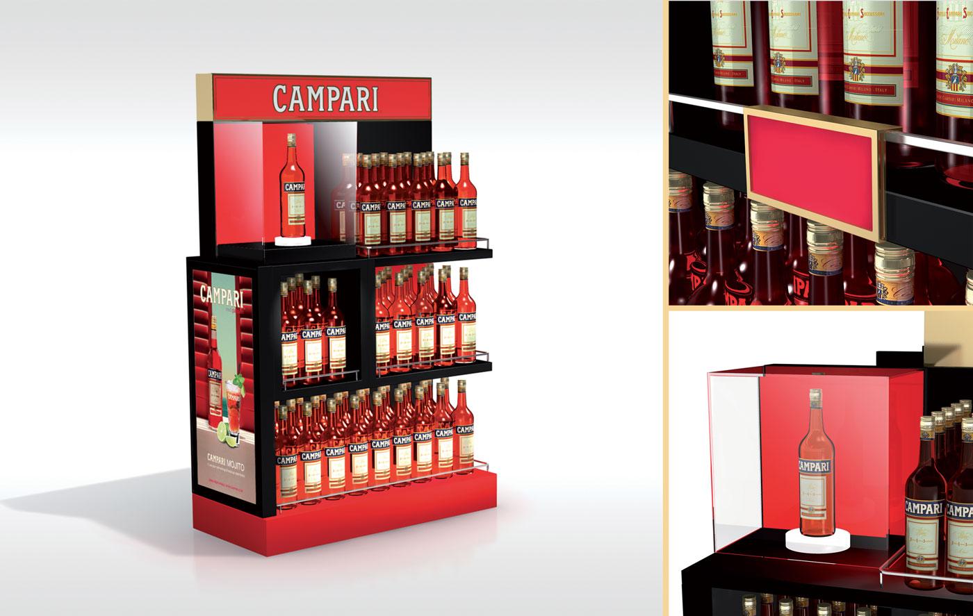 Campari Gondole - Un design pensé par l'agence de design de Paris Partisan du Sens.