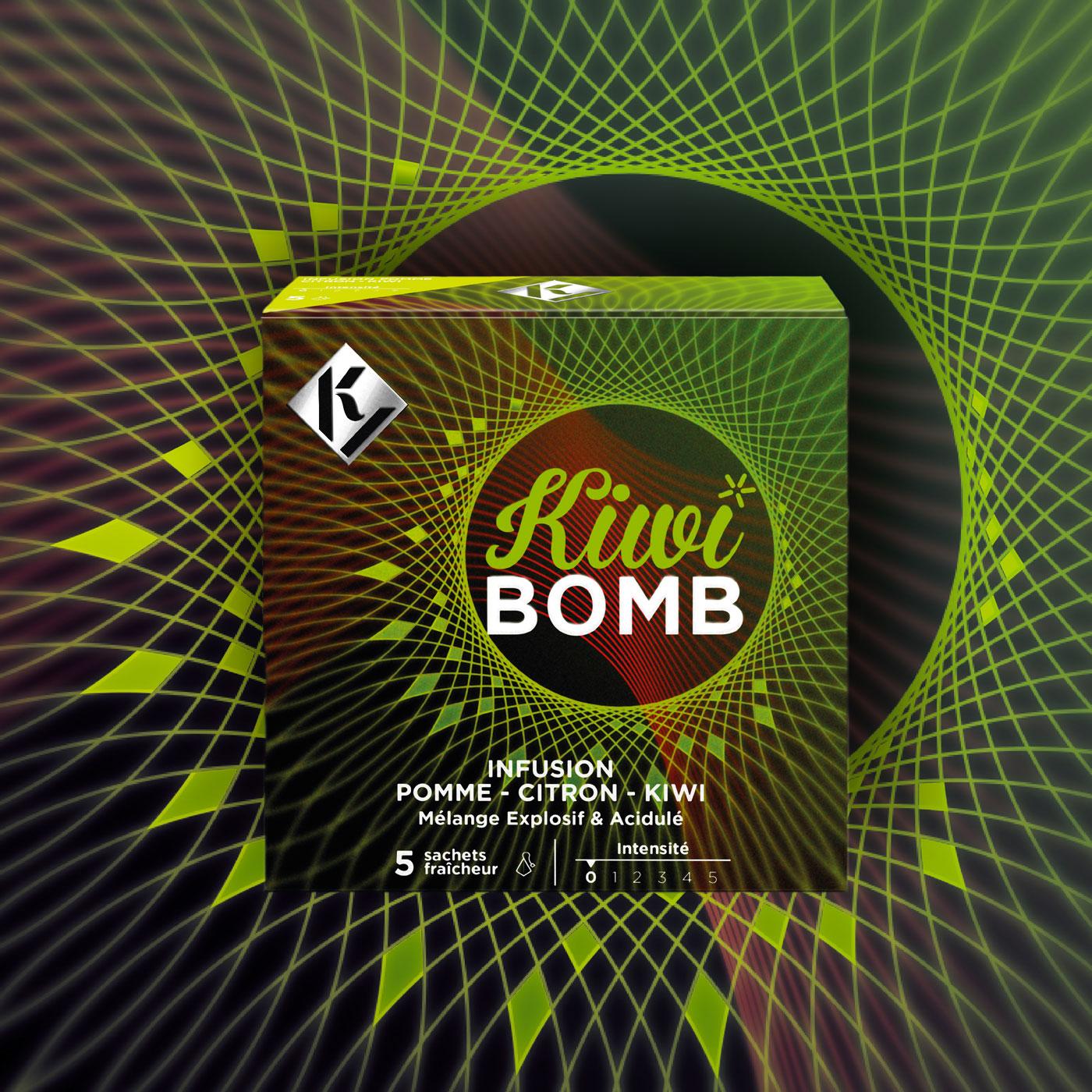 KY Tea - Kiwi BOMB - Un design pensé par l'agence de design de Paris Partisan du Sens.