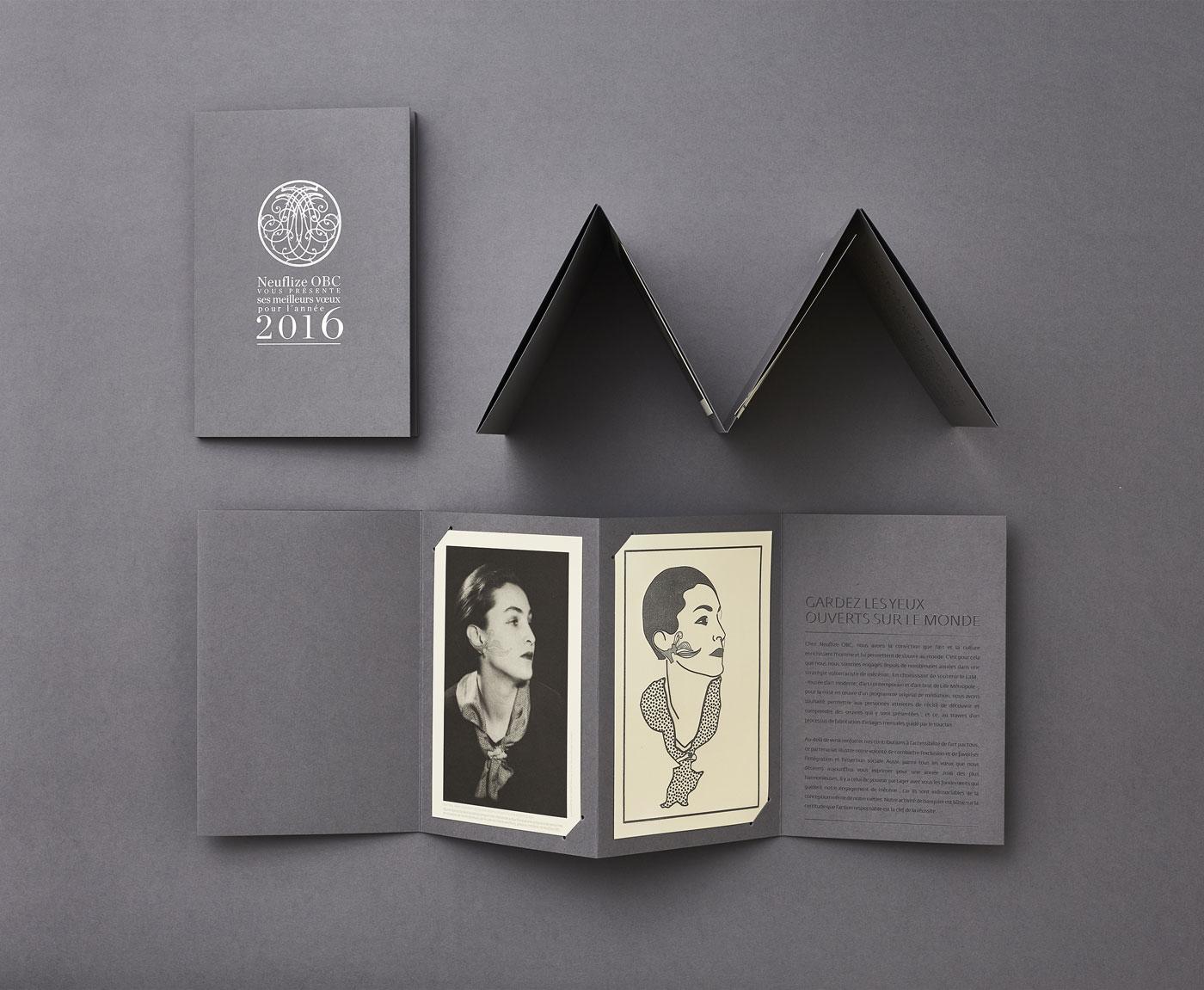 Neuflize - Cartes de voeux - Un design pensé par l'agence de design de Paris Partisan du Sens.
