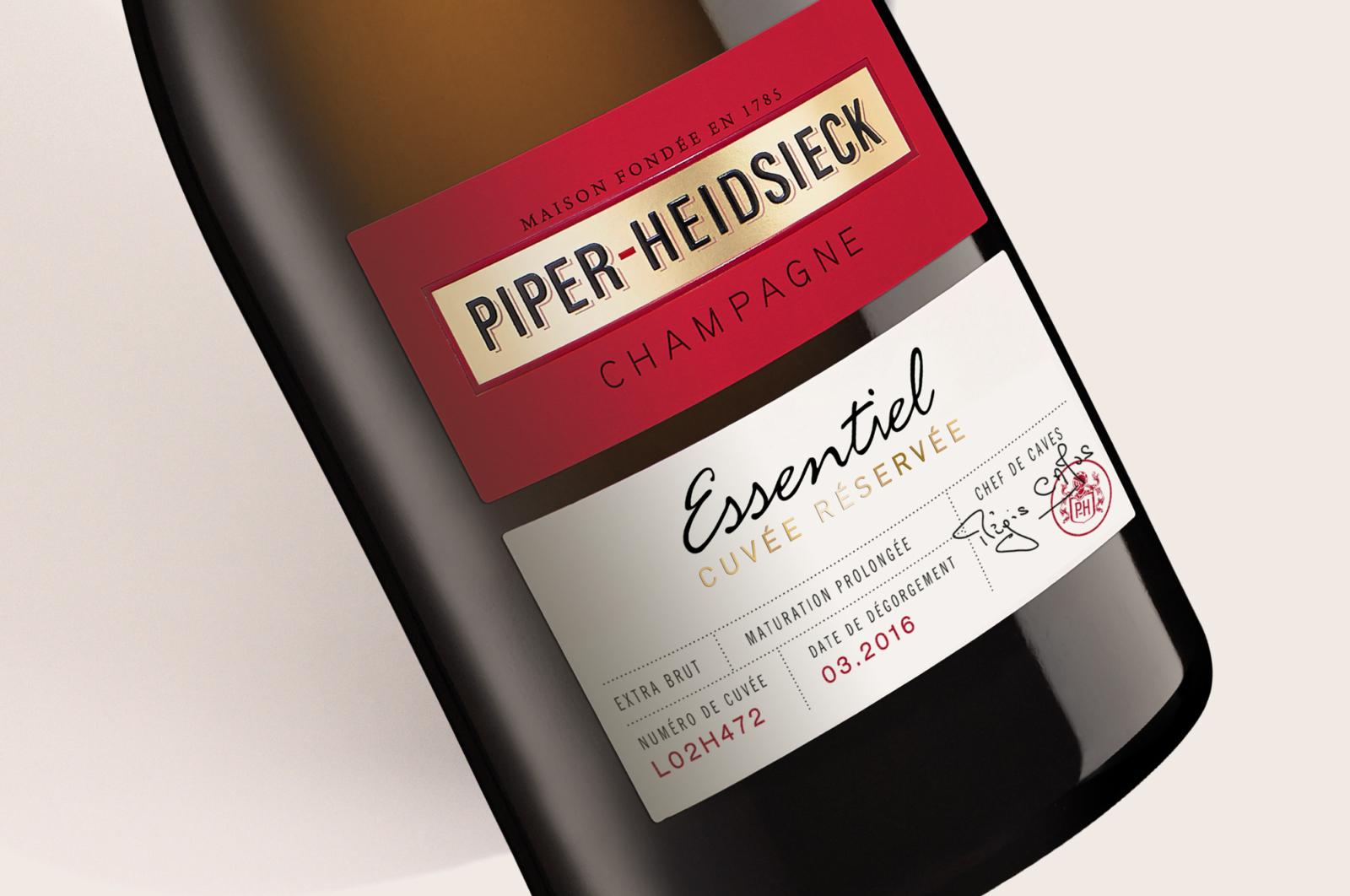 Piper-Heidsieck Essentiel - Un design pensé par l'agence de design de Paris Partisan du Sens.