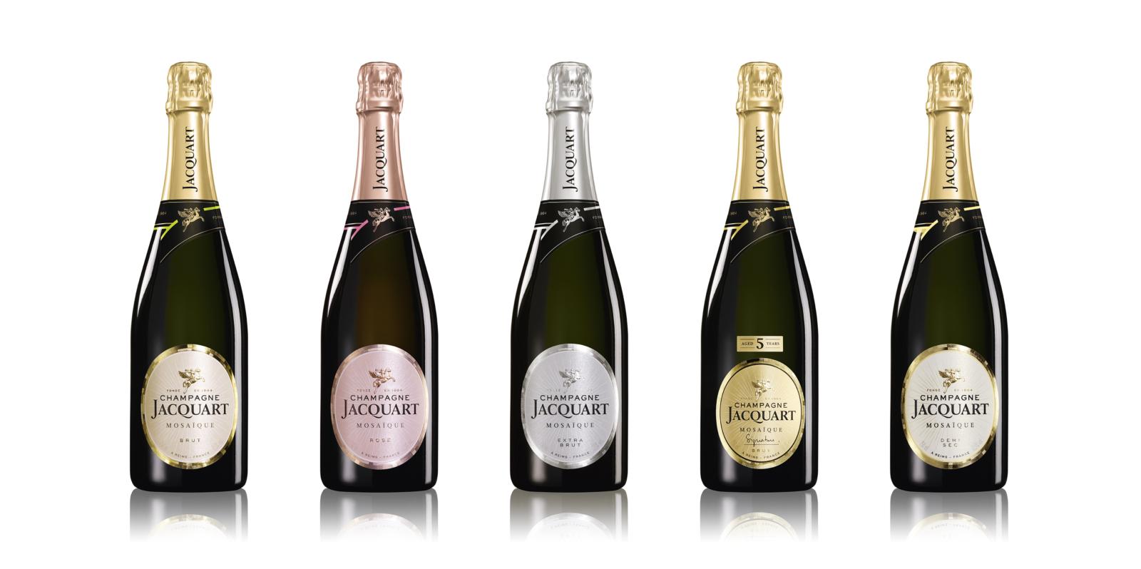 Gamme Champagne Jacquart - Un design pensé par l'agence de design de Paris Partisan du Sens.