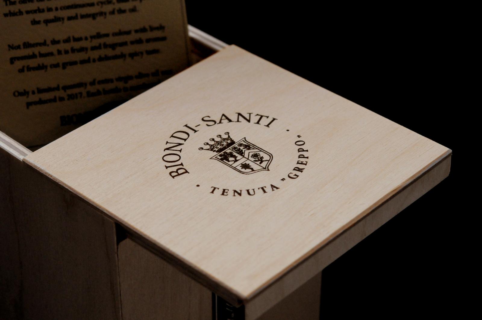 Huile d'Olives Biondi Santi - Un design pensé par l'agence de design de Paris Partisan du Sens.